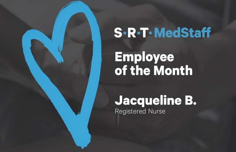 A big congratulations to our Employee of the Month, Jacqueline B.!